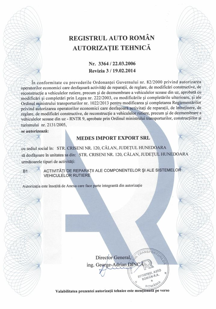 Autorizatie MEDES 2014 p1